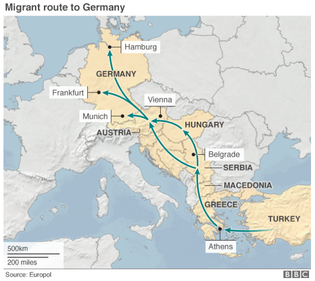 The Refugee Route Through Europe